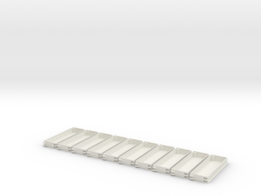 N gauge Platforms X10 textured and seamless joinin in White Strong & Flexible