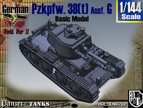 1-144 Basic PzKpfw 38t Ausf G in Smooth Fine Detail Plastic