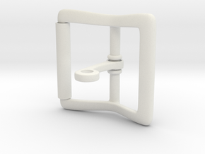 Locking Tongue Roller Buckle (4cm) in White Natural Versatile Plastic