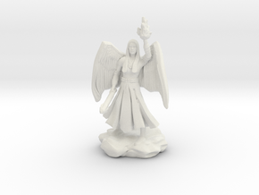 Female Aasimar Cleric With Mace in White Natural Versatile Plastic