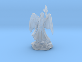 Female Aasimar Cleric With Mace in Smooth Fine Detail Plastic