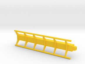 straight roller coaster rail in Yellow Strong & Flexible Polished