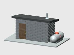 Generator Building in White Natural Versatile Plastic: 1:87 - HO