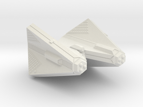 3788 Scale Tholian Web Caster Command Cruiser SRZ in White Natural Versatile Plastic