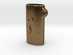 BIC mini OSH keychain in Natural Bronze