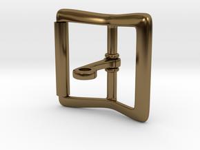 Locking Tongue Roller Buckle (4cm) in Polished Bronze (Interlocking Parts)