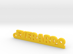 EVERARDO_keychain_Lucky in Yellow Processed Versatile Plastic