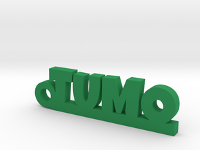 TUMO_keychain_Lucky in Green Processed Versatile Plastic