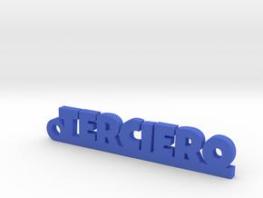 TERCIERO_keychain_Lucky in Blue Processed Versatile Plastic