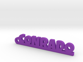 CONRADO_keychain_Lucky in Purple Processed Versatile Plastic