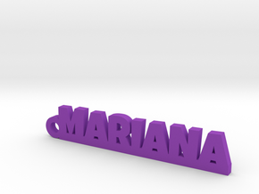 MARIANA_keychain_Lucky in Purple Processed Versatile Plastic