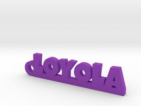 LOYOLA_keychain_Lucky in Purple Processed Versatile Plastic