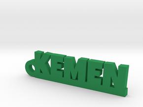 KEMEN_keychain_Lucky in Rhodium Plated Brass