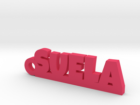 SUELA_keychain_Lucky in Polished and Bronzed Black Steel