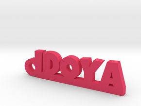IDOYA_keychain_Lucky in Polished and Bronzed Black Steel
