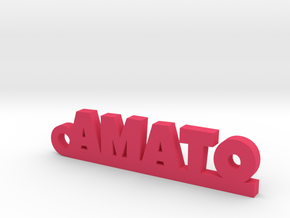 AMATO_keychain_Lucky in Pink Processed Versatile Plastic