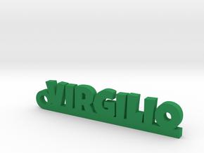 VIRGILIO_keychain_Lucky in Green Processed Versatile Plastic