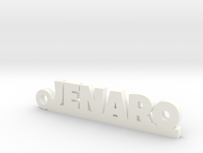JENARO_keychain_Lucky in White Processed Versatile Plastic