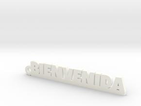 BIENVENIDA_keychain_Lucky in White Processed Versatile Plastic