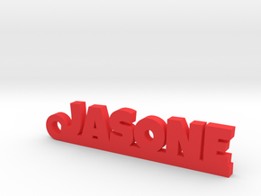 JASONE_keychain_Lucky in Fine Detail Polished Silver