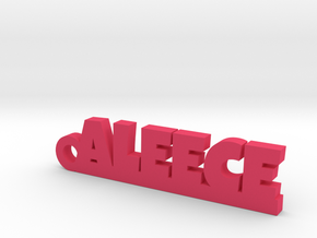 ALEECE_keychain_Lucky in Pink Processed Versatile Plastic