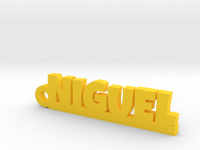 NIGUEL_keychain_Lucky in Yellow Processed Versatile Plastic