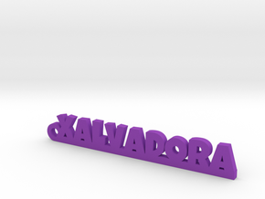 XALVADORA_keychain_Lucky in Purple Processed Versatile Plastic
