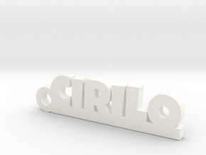 CIRILO_keychain_Lucky in White Processed Versatile Plastic