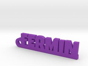 FERMIN_keychain_Lucky in Rhodium Plated Brass