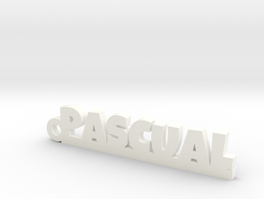 PASCUAL_keychain_Lucky in Rhodium Plated Brass