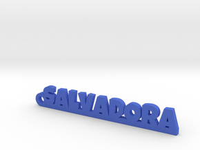 SALVADORA_keychain_Lucky in Polished and Bronzed Black Steel