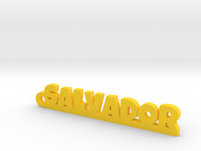 SALVADOR_keychain_Lucky in Yellow Processed Versatile Plastic