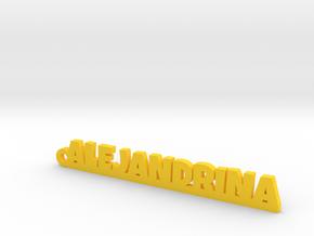 ALEJANDRINA_keychain_Lucky in Yellow Processed Versatile Plastic