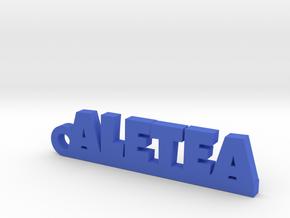 ALETEA_keychain_Lucky in Blue Processed Versatile Plastic