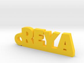 REYA_keychain_Lucky in Rhodium Plated Brass