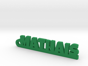MATHAIS_keychain_Lucky in Green Strong & Flexible Polished