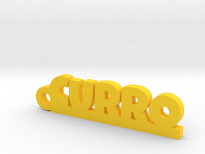 CURRO_keychain_Lucky in Yellow Processed Versatile Plastic