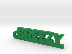 BREEZY_keychain_Lucky in Green Processed Versatile Plastic