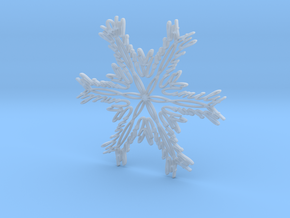 Emily snowflake ornament in Smooth Fine Detail Plastic