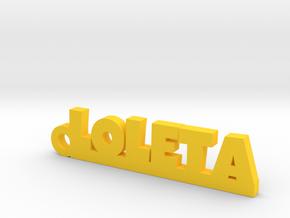 LOLETA_keychain_Lucky in Yellow Processed Versatile Plastic