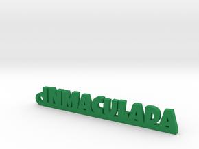 INMACULADA_keychain_Lucky in Matte Black Steel