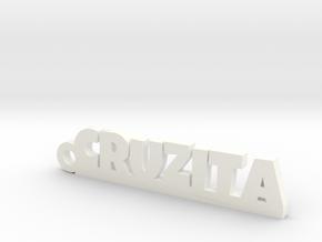 CRUZITA_keychain_Lucky in 18k Gold Plated Brass