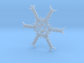 Hannah snowflake ornament in Smooth Fine Detail Plastic