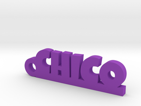 CHICO_keychain_Lucky in Purple Processed Versatile Plastic