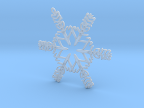 Liam snowflake ornament in Smooth Fine Detail Plastic