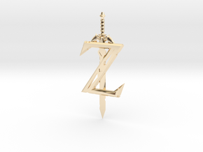 Breath of the Z -- Pendant in 14K Yellow Gold