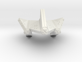 3788 Scale Tholian Dreadnought-Carrier SRZ in White Natural Versatile Plastic