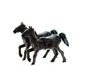 HORSE with REINS N scale in Smooth Fine Detail Plastic