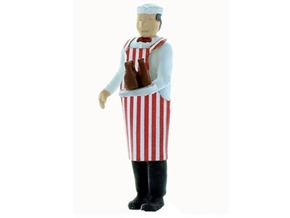 Soda Jerk O Scale Figure in Smooth Fine Detail Plastic