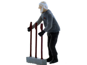 Machine Operator, Standing, S Scale in Smooth Fine Detail Plastic